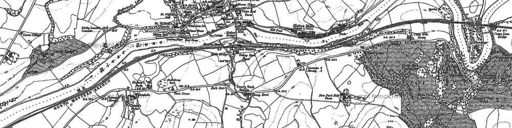 Old map of Halton in 1910
