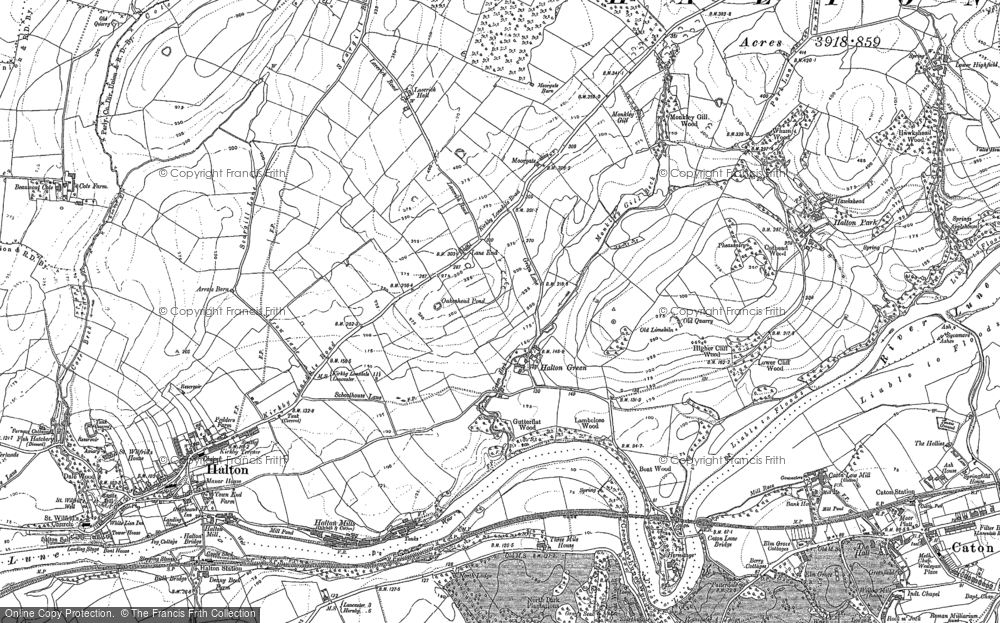 Old Map of Historic Map covering Lane End in 1910