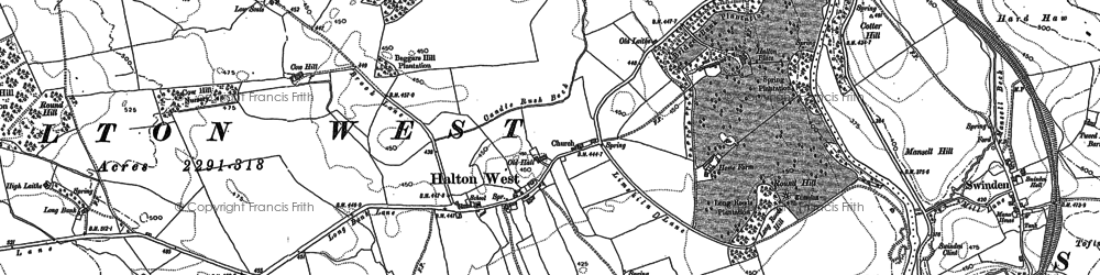 Old map of Halton West in 1893