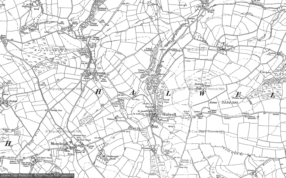 Old Map of Historic Map covering Ashwell in 1886