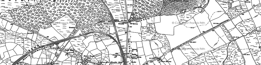 Old map of Lane End in 1883