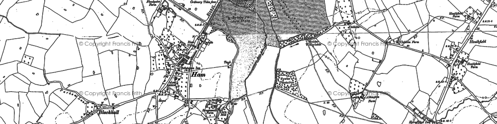 Old map of Ham in 1879