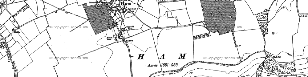 Old map of Anville's Copse in 1909