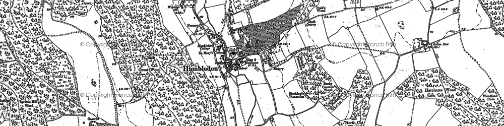 Old map of Bacres in 1897