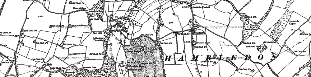 Old map of Windmill Down in 1895