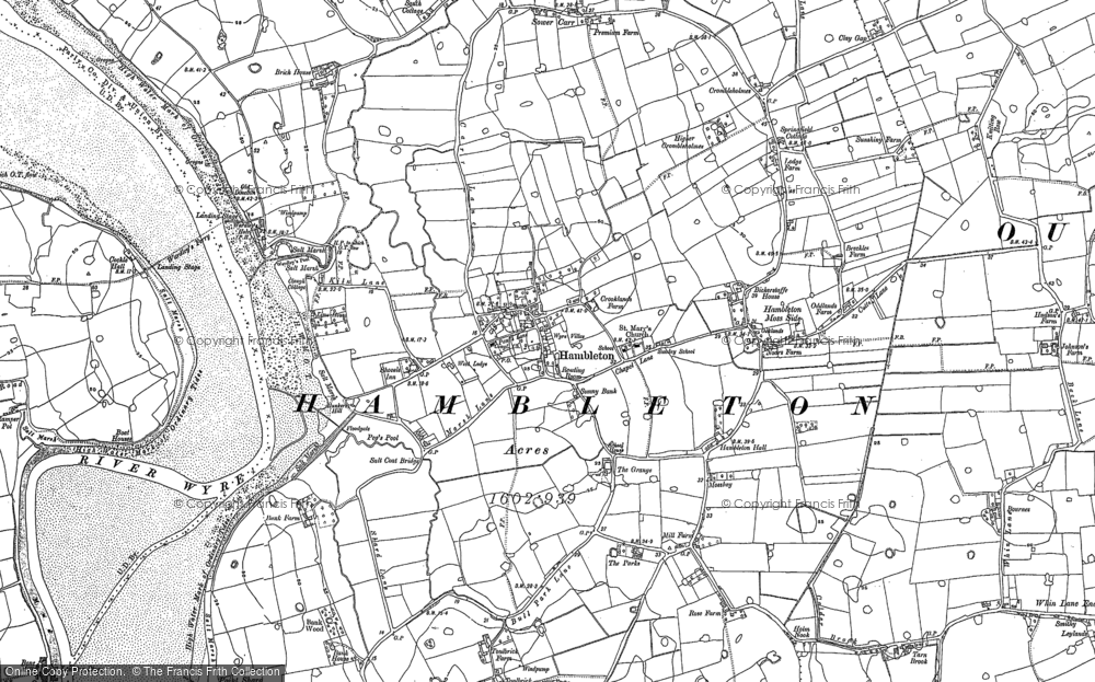 Old Map of Hambleton, 1909 - 1910 in 1909