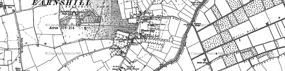 Old map of Westport Canal in 1885