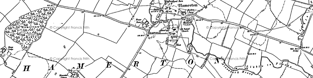 Old map of Alconbury Brook in 1887