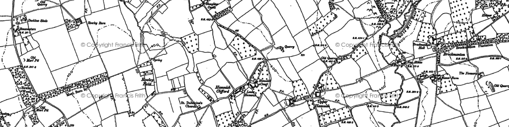 Old map of Widgeon Hill in 1885