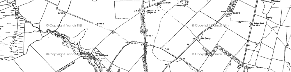 Old map of Whittle Colliery in 1896