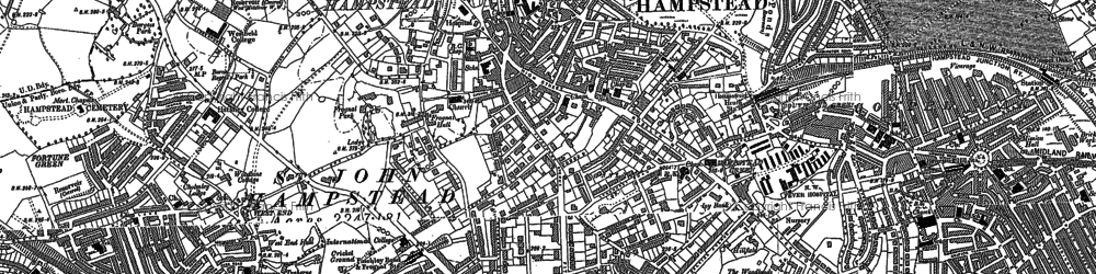 Old map of Hampstead in 1894