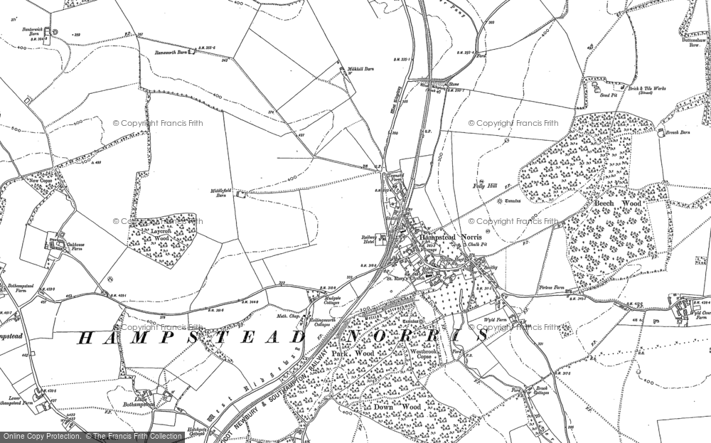 Old Map of Historic Map covering Wyld Court Rainforest in 1898