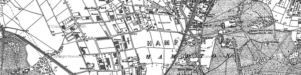 Old map of Hampton in 1894
