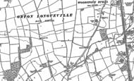 Old Map of Hampton Hargate, 1887