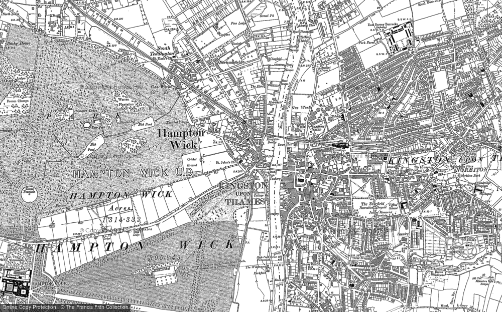 Old Maps of Hampton Wick Francis Frith