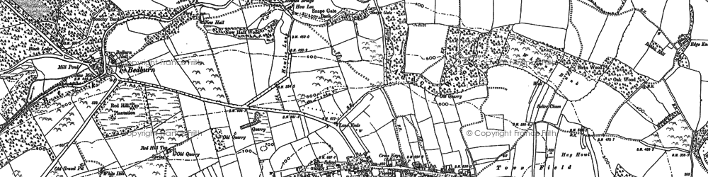 Old map of Linburn Beck in 1896