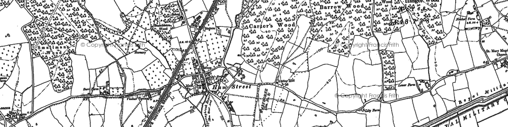 Old map of Orlestone Lodge in 1896