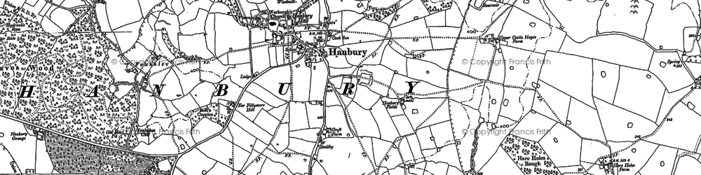 Old map of Woodend in 1882