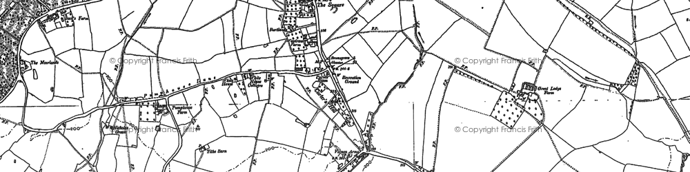 Old map of Hanbury in 1883