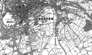Old Map of Handbridge, 1898 - 1909