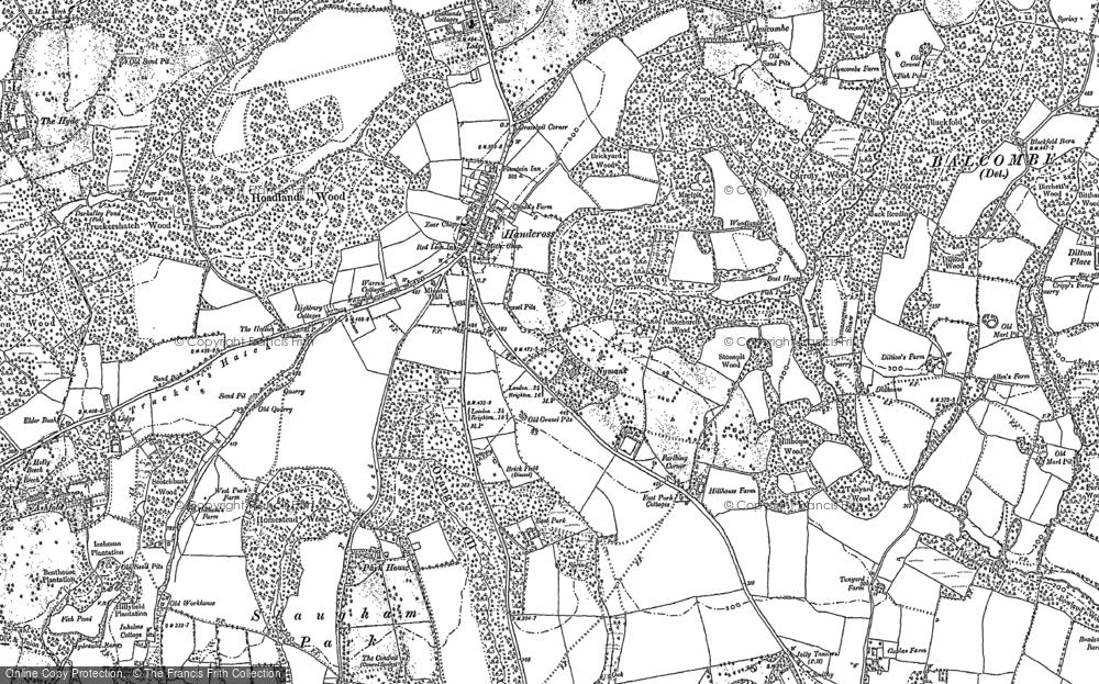 Map of Handcross, 1895