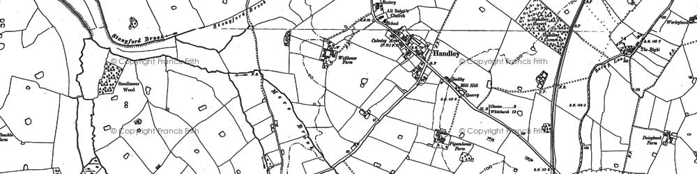 Old map of Aldersey Green in 1897