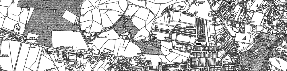 Old map of Handsworth in 1888