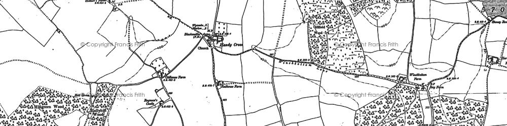 Old map of Burroughs Grove in 1897