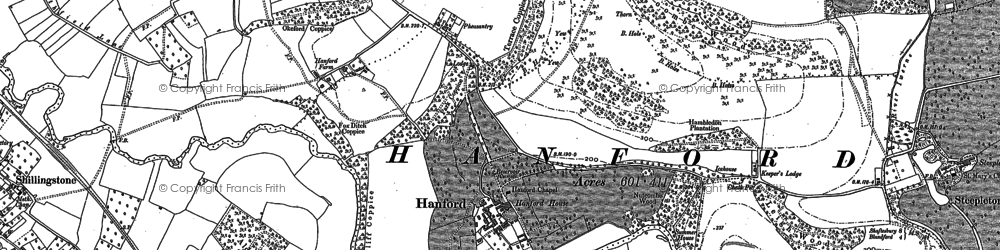 Old map of Alders Coppice in 1886
