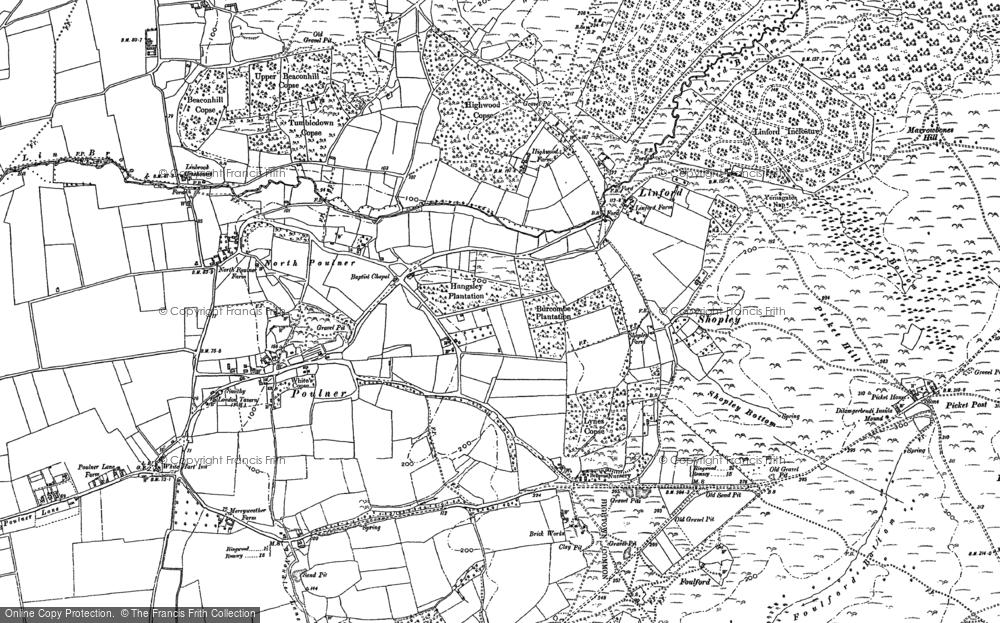 Old Map of Hangersley, 1895 - 1908 in 1895