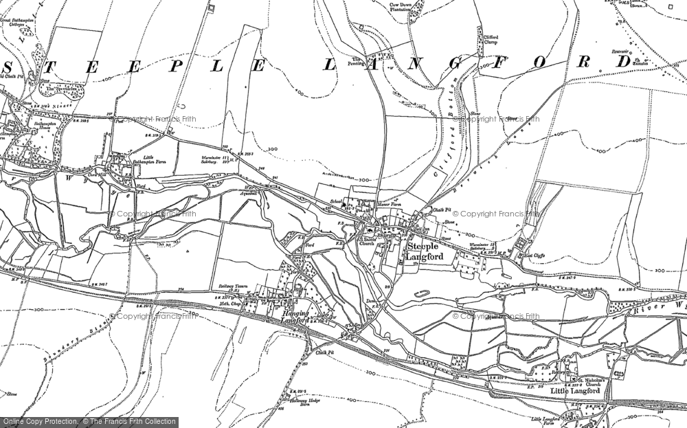 Old Map of Historic Map covering Ballington Manor in 1899
