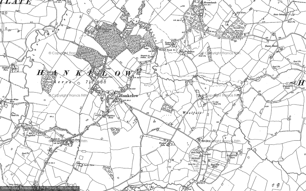 Old Map of Historic Map covering Woolfall in 1897