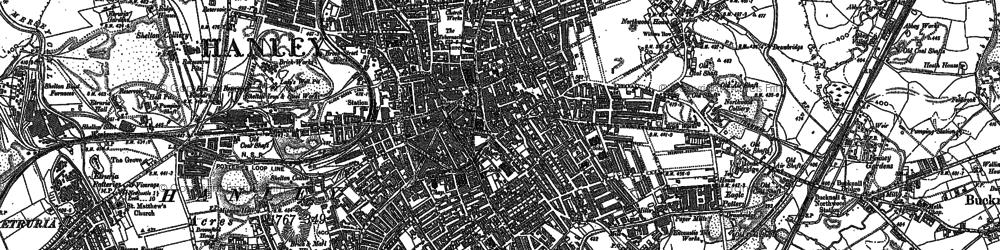 Old map of Hanley in 1877