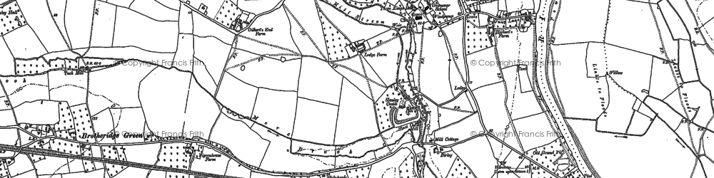 Old map of Hanley Castle in 1883