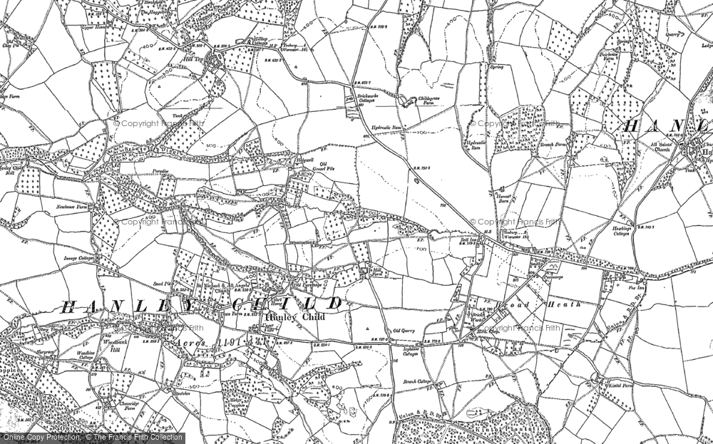 Old Map of Historic Map covering Woodbank Hill in 1885