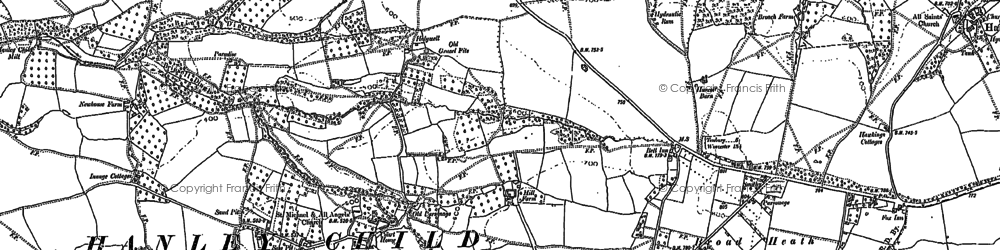 Old map of Woodbank Hill in 1885