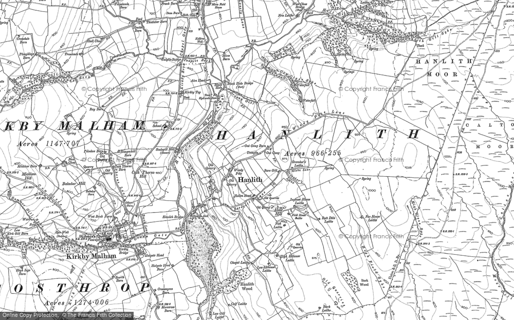 Old Map of Hanlith, 1907 in 1907