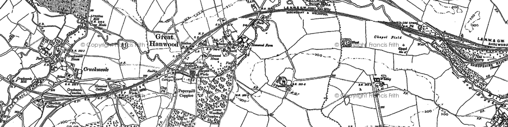 Old map of Hanwood in 1881