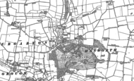 Old Map of Hanworth, 1885