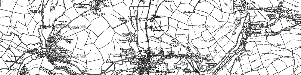 Old map of Woodcourt in 1886