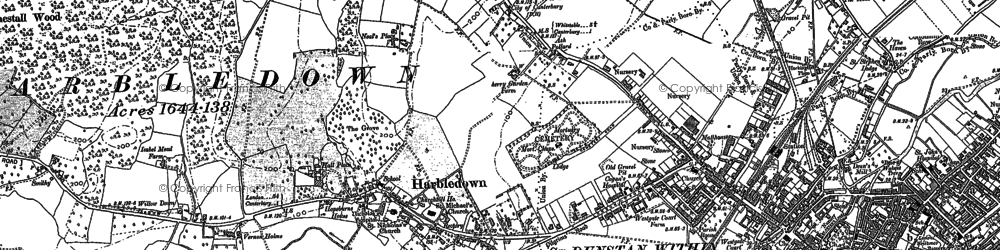 Old map of Tonford Manor in 1896