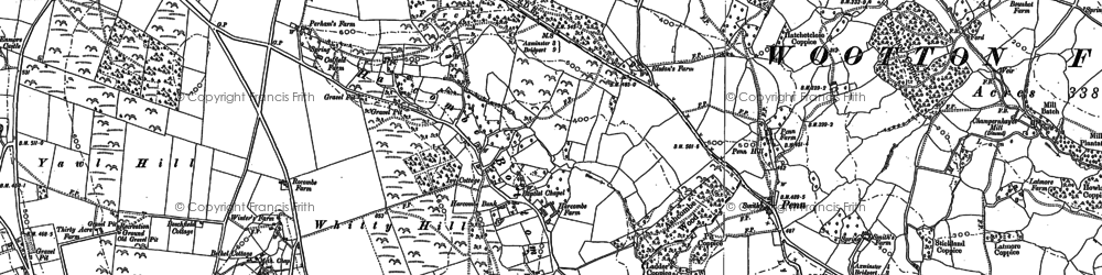 Old map of Whitty Hill in 1887