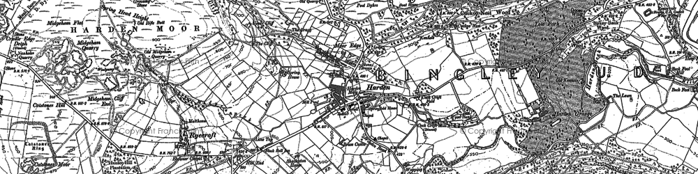 Old map of Harden in 1848