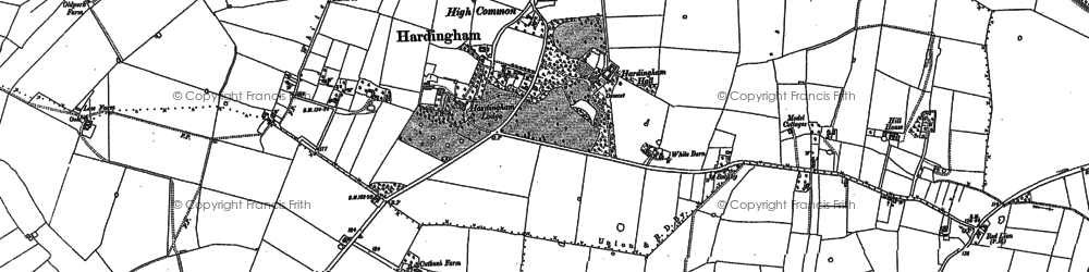 Old map of White Cross in 1882