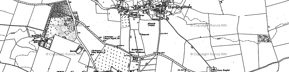 Old map of Wootton Hall in 1884
