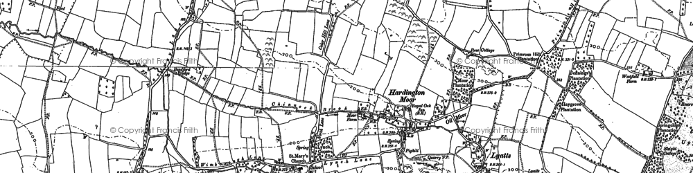 Old map of Windmill Hill in 1886