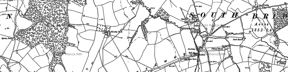 Old map of Leland Trail in 1884