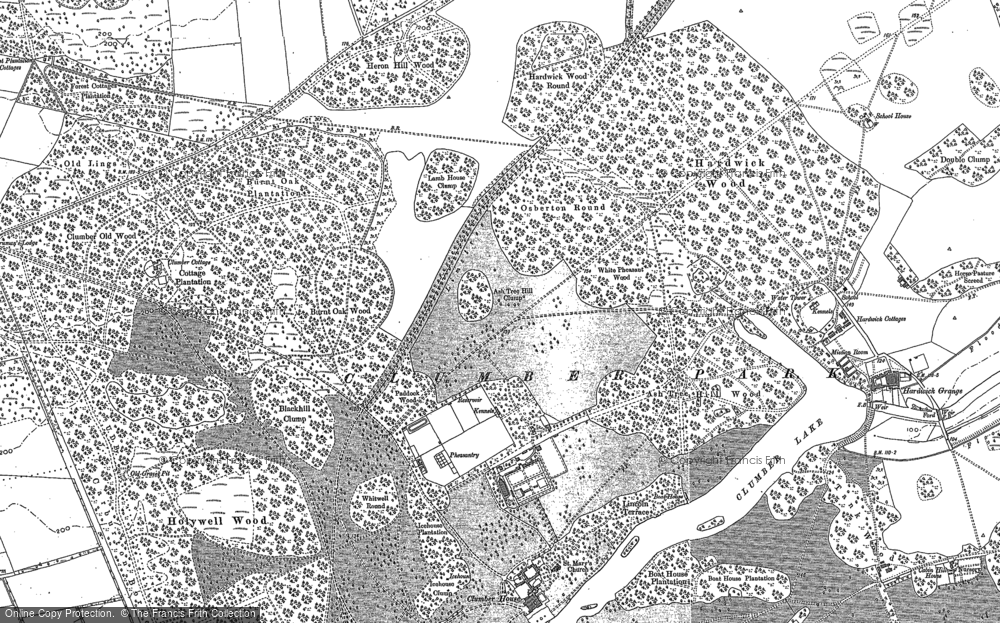 Old Map of Hardwick Village, 1898 - 1910 in 1898