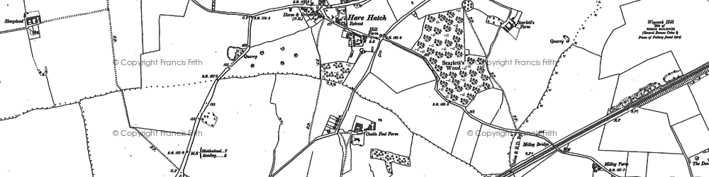 Old map of Hare Hatch in 1910