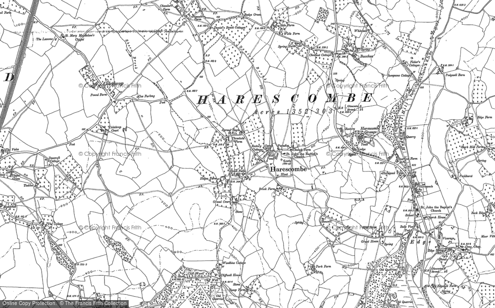 Old Map of Harescombe, 1882 in 1882